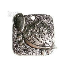 Breloques _ TORTUE 26,5x26,5mm _ Perles charms pendentifs création bijoux _ B329