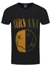 Nirvana Spliced Smiley Men's Black T-shirt