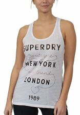 Superdry Camiseta sin mangas de Mujer Verdadero MARCA Tiras Entry Chaleco OPTIC