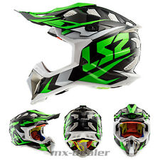 LS2 LS 2 MX 470 SUBVERTER Nimble BIANCO VERDE MX Casco da cross motocross enduro