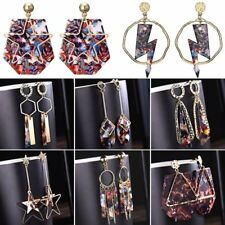 Boho Geometric Round Triangle Dangle Drop Hook Ear Stud Earrings Lady Jewellery
