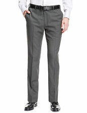 """M&S Collection Supercrease Wool Blend Slim Fit Grey Suit TROUSERS 30"""" Waist"""
