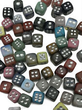 D6 Gemstone Dice Unique Mix and Match Asst Hand Carved Stone Quartz Jasper