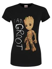 Guardians Of The Galaxy I Am Groot Women's Black T-shirt