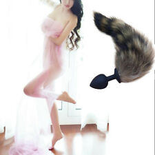 Unisex-Dildo-Fetish-Anal-Toys- raccoon-Tail-Butt-Silicone-Anal-SM-Adult-Toy-Plug