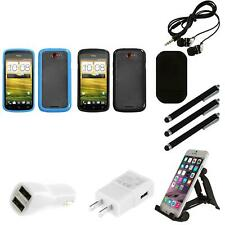 For HTC One S TPU Hard Case Skin Phone Cover Combo