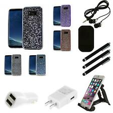 For Samsung Galaxy S8 ROCK Rhinestone Bling Crystal Design Hard Cover Case Combo
