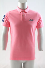 Superdry Classic Pique Polo Fluro Pink Grit Size XL
