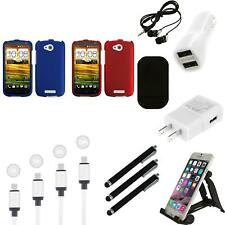 For HTC One VX Snap-On Hard Case Phone Skin Cover Accessory Charger