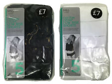 Ex M&S Lingerie Cotton Lycra Low Rise Shorts 5Pack Marks & Spencer Ladies UK8-22