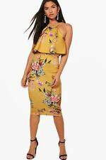 Boohoo Tiggy Double Layer Floral Midi Dress para Mujer