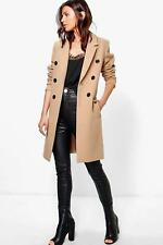 Boohoo Natalie Double Breasted Coat para Mujer