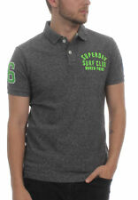 Superdry Herren Polo CLASSIC SS SUPERSTATE Plate Grey Grindle