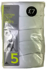 Ex M&S Lingerie Cotton Lycra Full Briefs Knickers 5 Pack Marks & Spencer UK10-14