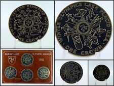 Moneda Set Moscú Isla De Man 1980 1 Corona Olimpiadas Invierno Lake Placid 22