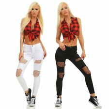 5121 sexy pantalones vaqueros pitillo mujer treggings Leggings cut-outs Red
