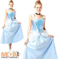Cinderella Ladies Fancy Dress Disney Princess Fairy Tale Womens Adults Costume
