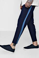 Boohoo Taped Skinny Fit Stretch Trousers per Uomo