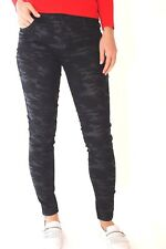 Karen Millen PR108 Black Camouflage Stretch Skinny Jeans Slim Trousers 10 38 New