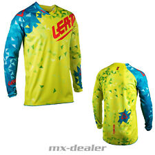 18 LEATT GPX 4.5 LITE JERSEY calce GIALLO JERSEY MX motocross cross enduro