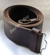 KILT BELT PLAIN BROWN LEATHER WAIST size SMALL to XX-LARGE Adjustable NEW KILTS
