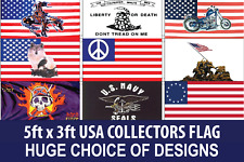 USA FLAGS - 5FT X 3FT AMERICA UNITED STATES COLLECTORS - FAST & FREE UK DELIVERY