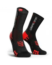 Compressport Racing Calcetines V3.0 Bike Medias de Red Compresión, Negro/Red