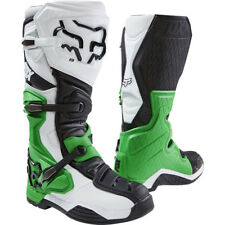 Fox Racing comp 8RS Motocross Mx Enduro BOTAS DE MOTO - Blanco/Negro/Verde