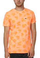 Superdry T-Shirt Herren WHISTLE S/S AOP LITE TEE Sun Scorched Coral