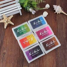 Craft Multi Colors Ink Pad Oil Set For Rubber Stamp Paper Wood Fabric Durable