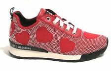 SCARPE DONNA SNEAKER RUNNING LOVE MOSCHINO JERSEY ROSSO MICROBORCHIE D19MO06