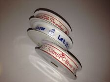 TWILL TAPE ribbon 15mm -Christmas LET IT SNOW / Santa Claus is coming - 4m reel