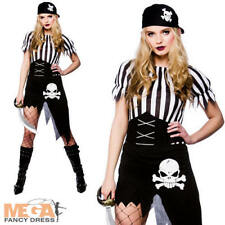 Sexy Pirate Ladies Halloween Fancy Dress Womens Adults Pirate Costume Outfit New