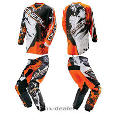 O'Neal Element Shocker orange Hose Jersey mx motocross Enduro Quad Combo Kombi