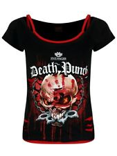 Spiral Five Finger Death Punch Assassin Women's Black Ripped 2 in 1 Top
