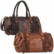 Leder Shopper DEJA Damen Umhängetasche Handtasche FRILLED Billy the Kid NEU