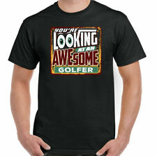 looking at an Awesome golfista hombre divertido Golfing Camiseta Golf Clubs Bola