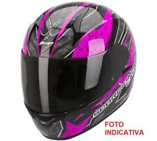 CASCO SCORPION RAD INTEGRALE EXO 410 DA DONNA LADY INTERNO ESTRAIBILE NERO ROSA
