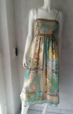 Hallhuber VESTITO/GONNA IN SETA PAISLEY TGL 34 UK6 NUOVO