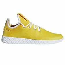 f5f684f83 adidas PHARRELL WILLIAMS HU TENNIS SHOES YELLOW SNEAKERS TRAINERS KICKS  MEN S