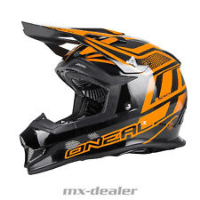 O'NEAL 2Series MANALISHI NERO ARANCIONE tg. XL CASCO CROSS MX motocross enduro