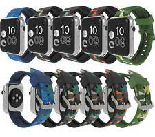 For Apple iWatch iWatch Replacement Strap Band Camo Silicone Rubber 38mm & 42mm