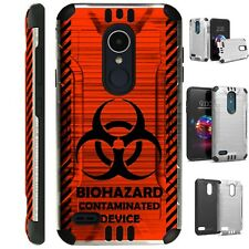SILVER GUARD For LG Aristo / Stylo Phone Case Cover BIOHAZARD RED