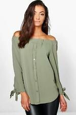 Boohoo Womens Tall Off The Shoulder Woven Top