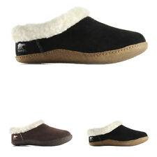 Womens Sorel Nakiska Slide Winter Fur Lined Mules Shoes Suede Slippers UK 3-9