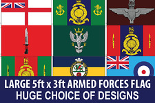 5ft x 3ft Military Flag Regiments Army Marines Navy RAF Infantry Signals