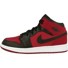 Nike Air Jordan 1 MID BG Baskets excellents ROUGE BLANC NOIR 554725-610