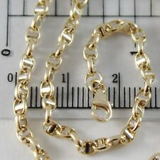 PULSERA ORO AMARILLO O BLANCO 750 18 CT,21 CM,3 MM,MARINARA TRAVESAÑO,ITALY