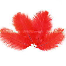 Red Ostrich Feather Fluffy Wedding Costume Party Centerpiece Craft Deco
