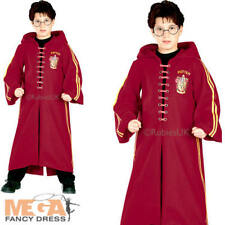 Deluxe Quidditch Robe Kids Fancy Dress Harry Potter Book Day Boys Girls Costume